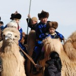 Mongolians of all ages participate in the camel festival